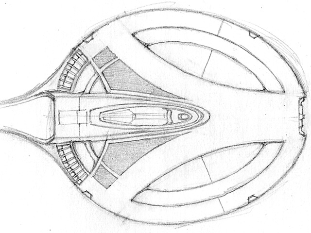 USS Grandeur - Early Concept Sketch